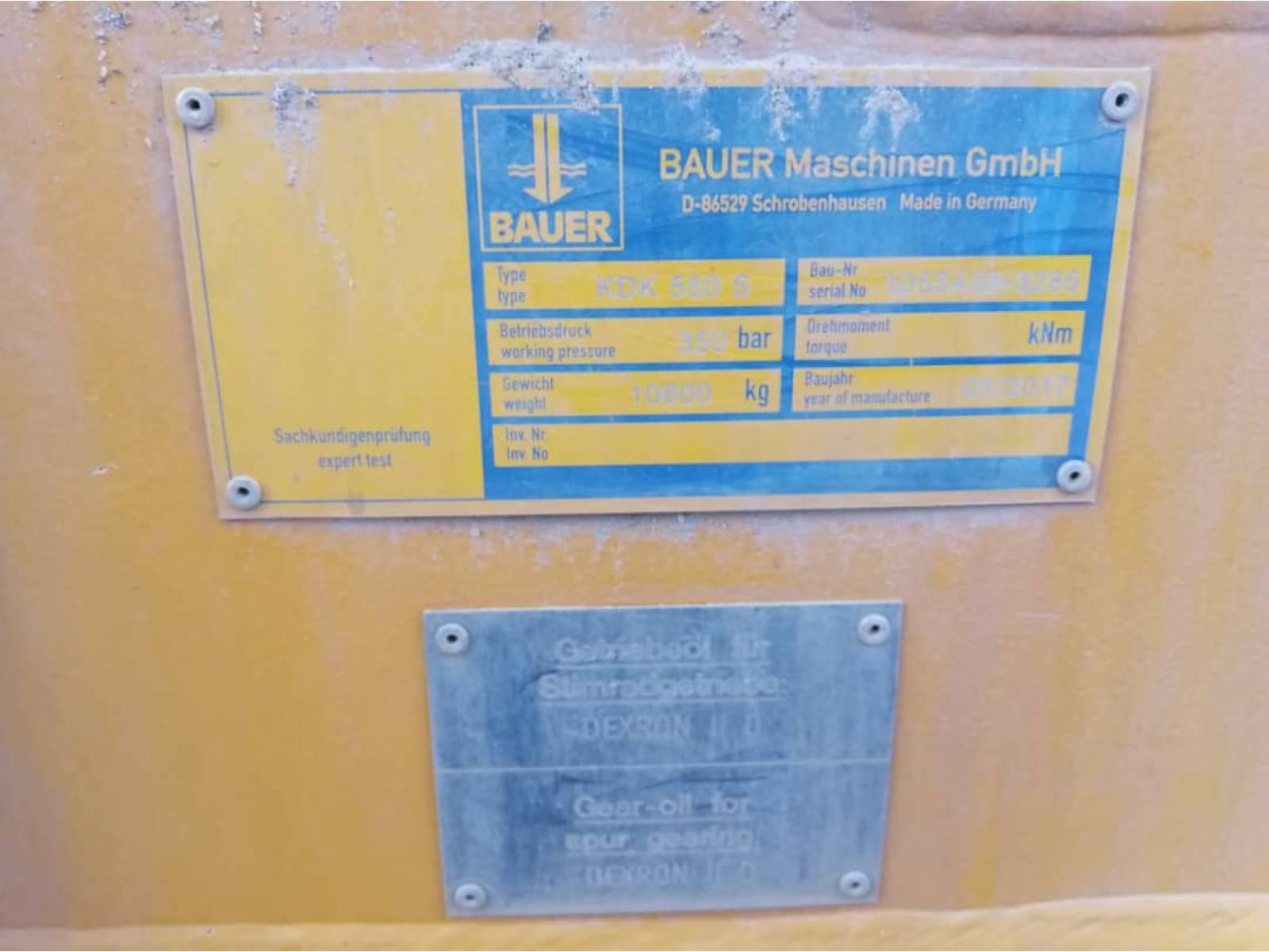 BAUER BG55 BORING RIG
